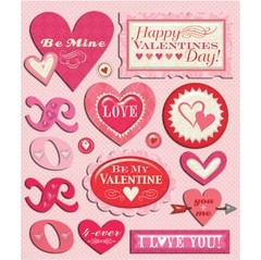 Stickers Tridimensionales Valentine's Day K&Company