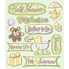 Stickers Tridimensionales Baby Shower K&Company - comprar online