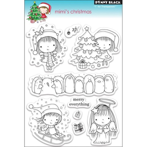 Sellos Mimi's Christmas Clear Stamp Penny Black - comprar online
