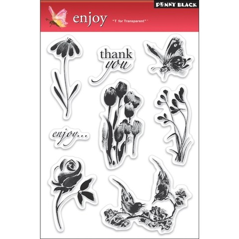 Sellos Enjoy Clear Stamp Penny Black - comprar online