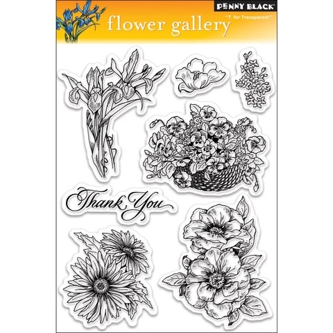 Sellos de Flower Gallery Clear Stamp Penny Black - comprar online