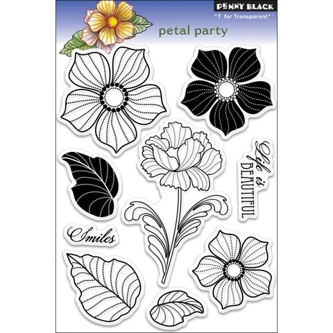 Sellos Petal Party Clear Stamp Penny Black