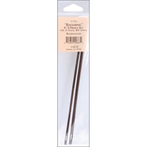 Agujas rosewood para crochet 4/E (3.5mm) y 8/F (5mm)  Lacis