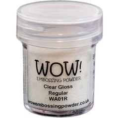 Polvo para embossing Transparente Clear Gloss Regular Wow!