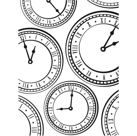 Carpeta Texturizadora Embossing Clock Background Darice - comprar online