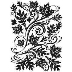 Carpeta Texturizadora Embossing Fall Leaves Swirl Darice