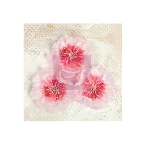 Set de 3 flores de Tela Lyric Pink Prima Marketing - comprar online