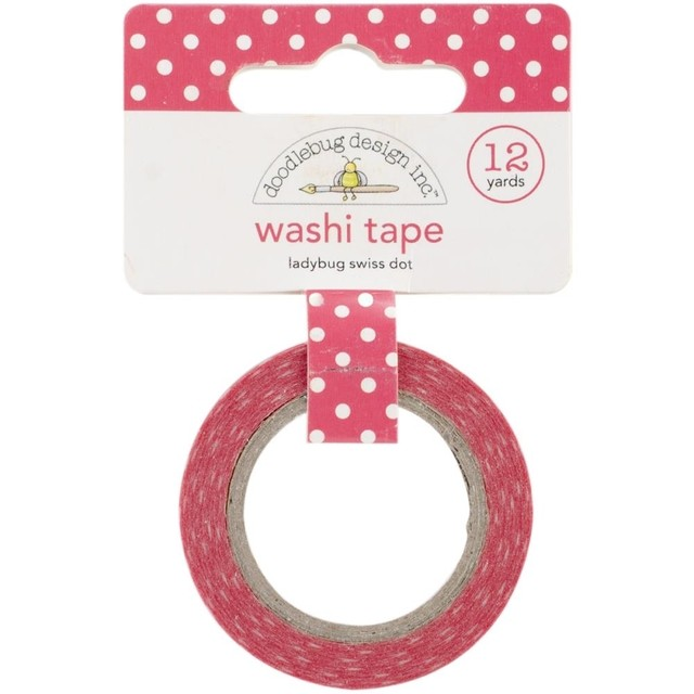 Cinta Decorativa Washi Tape Ladybug Swiss Dot Doodlebug