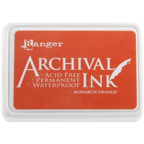 Almohadilla de Tinta Ranger Archival Ink Color Monarch Orange - comprar online