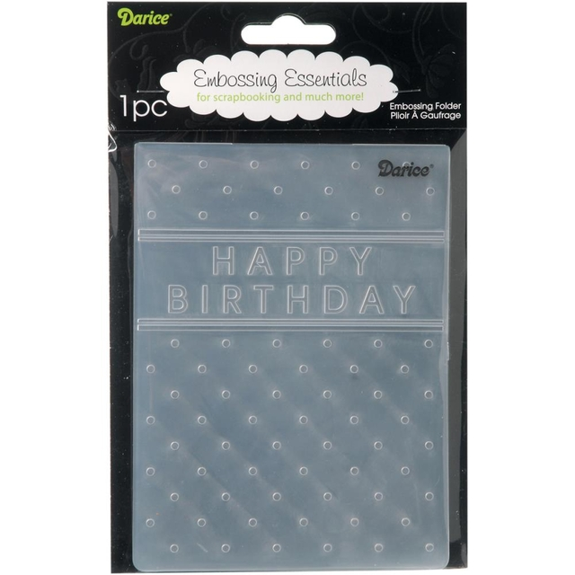 Carpeta Texturizadora Embossing Happy Birthday Darice - comprar online