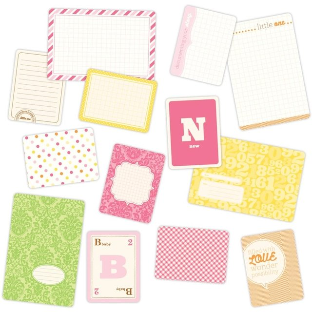 MINI KIT DE 100 TARJETAS PARA PROJECT LIFE BECKY HIGGINS BABY FOR HER - comprar online