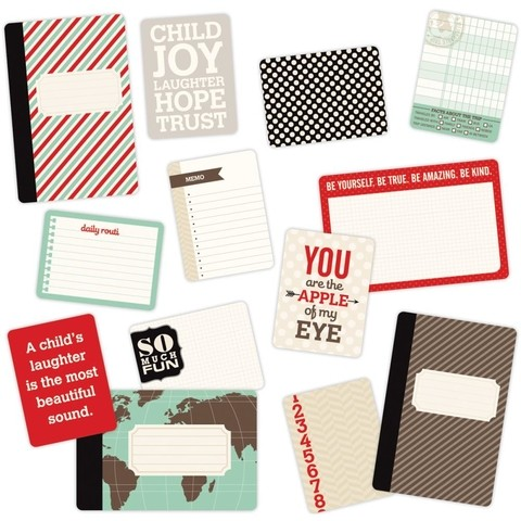 MINI KIT DE 100 TARJETAS PARA PROJECT LIFE BECKY HIGGINS CHILDHOOD - comprar online