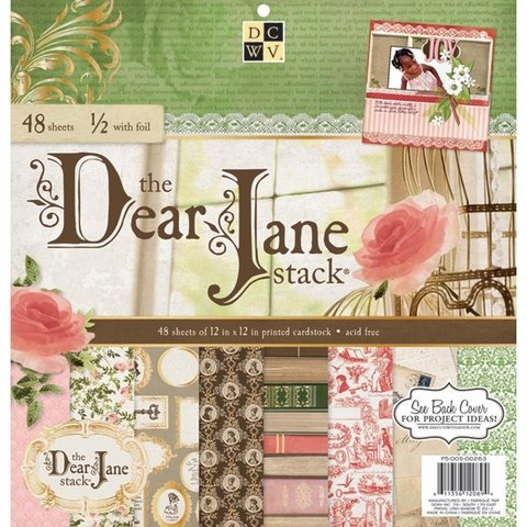 Block Cartulinas 48 hojas con gold foil Para Scrap 30x30 DCWV  Dear Jane