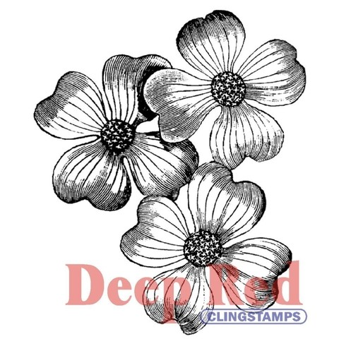 Sellos Flores Dogwood Flowers Deep Red - comprar online