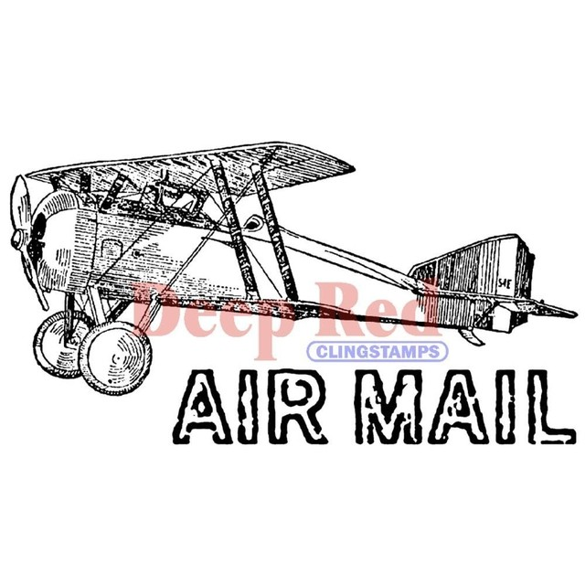Sello Vintage Air Mail Deep Red - comprar online