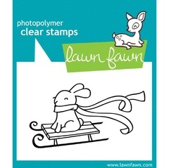 Sello Winter Bunny Clear Stamp Lawn Fawn 7.6 cm x 5 cm - comprar online