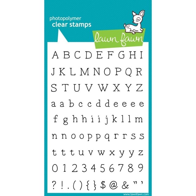 Sellos Alfabeto Smitty's ABC Clear Stamp Lawn Fawn