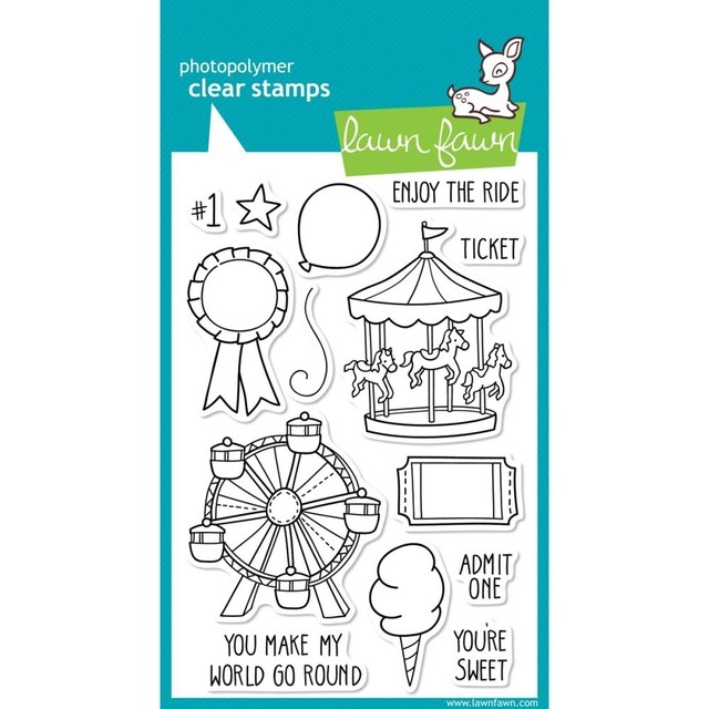 Sellos Admit One Clear Stamp Lawn Fawn