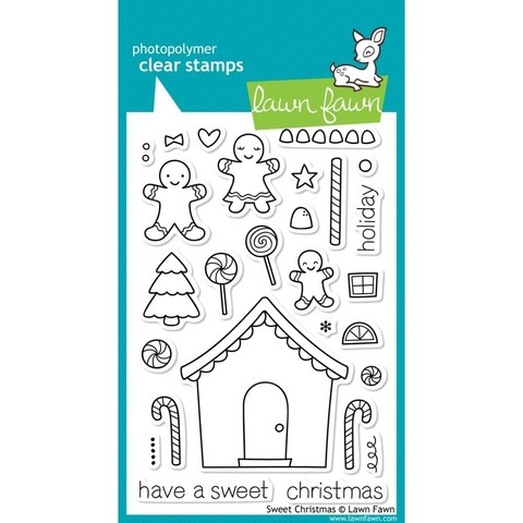 Kit de Sellos y troqueles Sweet Christmas Clear Stamp Lawn Fawn