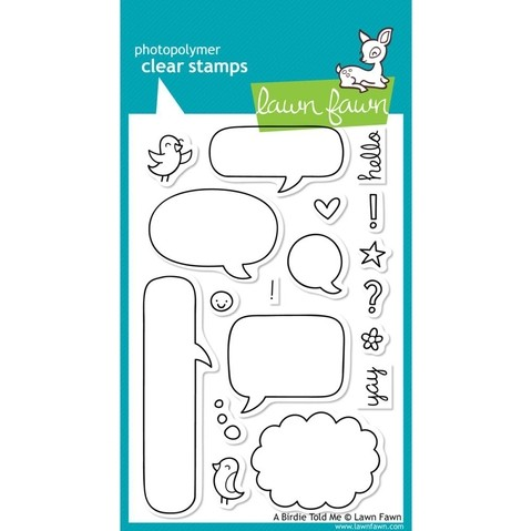 Sellos Globos de Diálogo A Birdie Told Me Clear Stamp Lawn Fawn