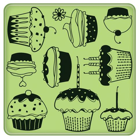 -Sello Cupcake Pattern Inkadinkado