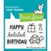 Sellos Happy Birthday Segundo Año Clear Stamp Lawn Fawn 7.6 cm x 5 cm