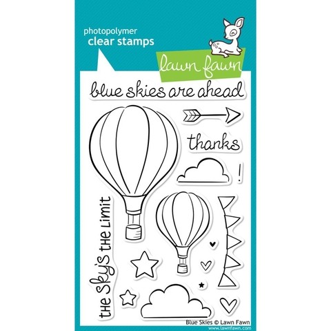 Sellos Globos Aerostáticos Blue Skies Clear Stamp Lawn Fawn