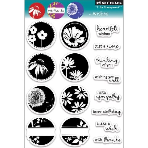 Sellos Wishes Clear Stamp Penny Black - comprar online