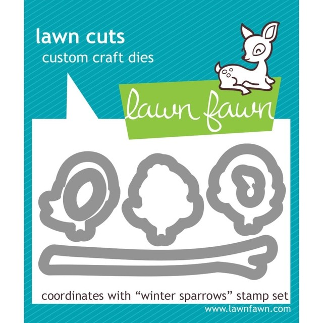 Kit Troqueladora y sello Pajaritos Winter Sparrows Lawn Fawn 7.5 cm x 5 cm - comprar online