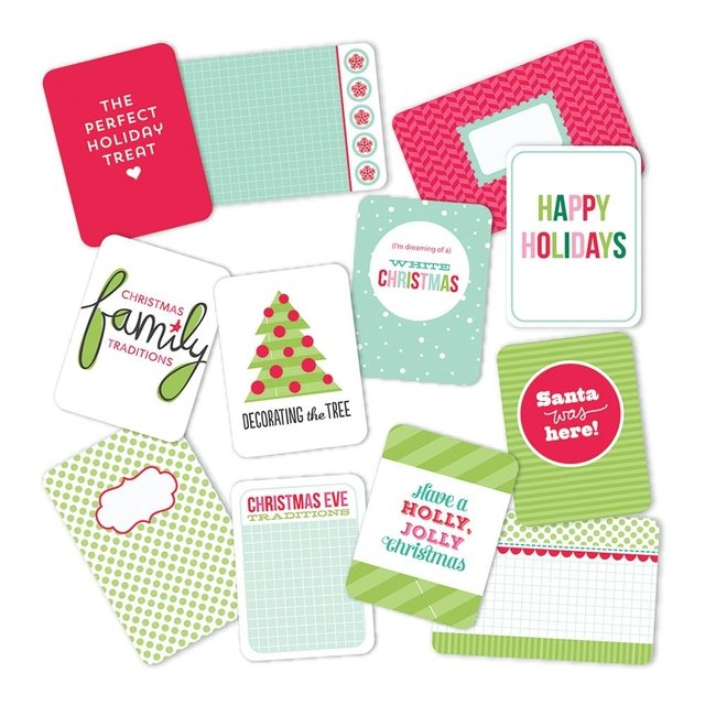MINI KIT DE 100 TARJETAS PARA PROJECT LIFE BECKY HIGGINS MERRY & BRIGHT - comprar online