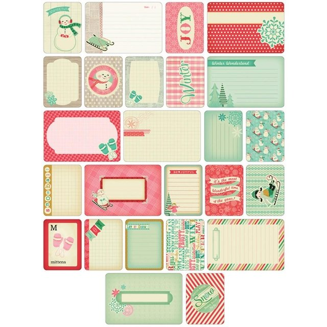 KIT DE 60 TARJETAS PARA PROJECT LIFE BECKY HIGGINS WINTER