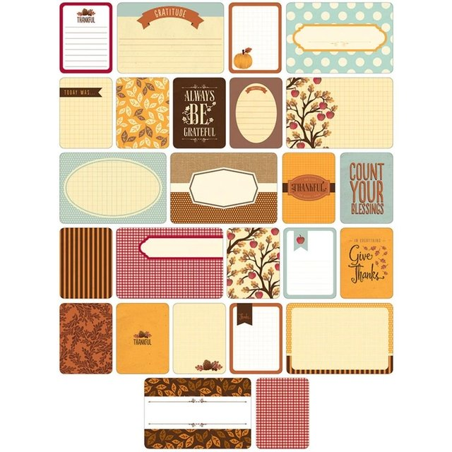 KIT DE 60 TARJETAS PARA PROJECT LIFE BECKY HIGGINS FALL