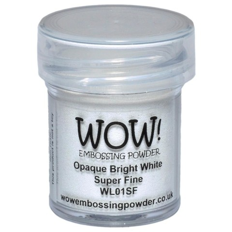 Polvo para embossing Opaque Bright White Super Fine Wow!