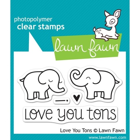 Sellos Love You Tons Clear Stamp Lawn Fawn 7.6 cm x 5 cm