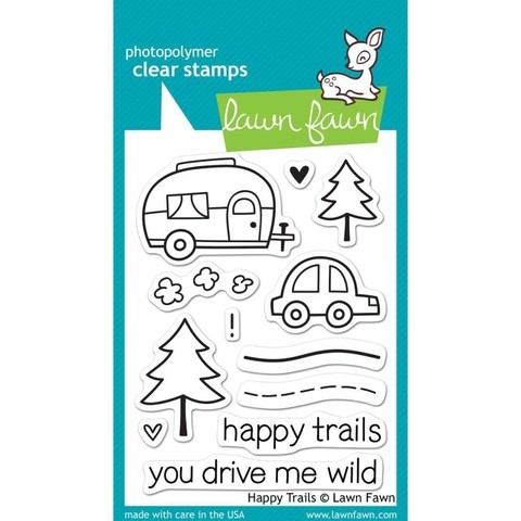 Sellos Happy Trails Clear Stamp Lawn Fawn - comprar online