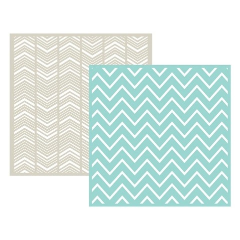 Set 2 Carpetas Texturizadoras Embossing Chevron We R Memory Keepers