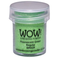 Polvo para embossing Verde Fluorescente Wow!