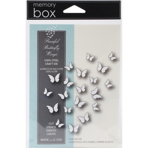 Troqueladora Mariposas Peaceful Butterfly Wings Memory Box - comprar online