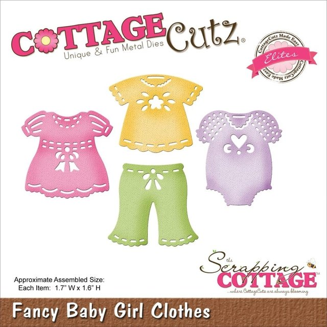 Troqueladora Fancy Baby Girl Clothes Cottage Cutz