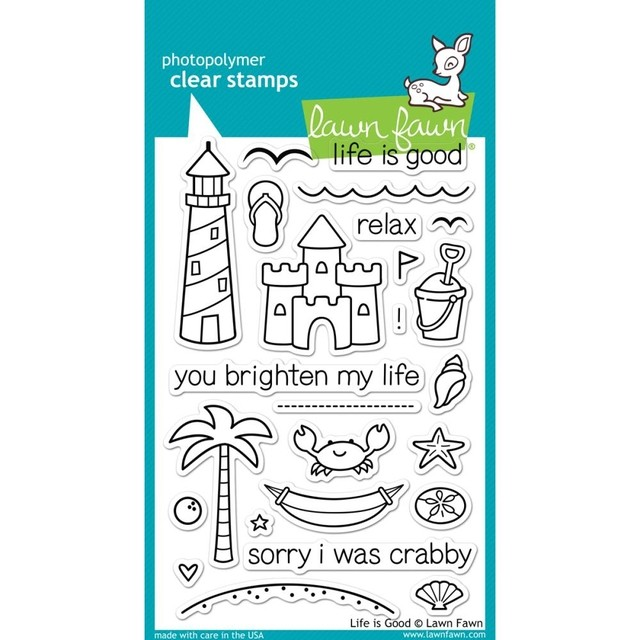 Sellos Life is Good Clear Stamp Lawn Fawn - comprar online