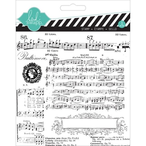 Sello Music Notes Heidi Swapp 13,9 cm x 13,9 cm - comprar online