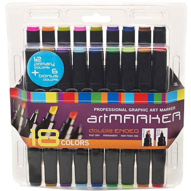Set de 18 marcadores de doble punta Pro Art Graphic-Marker Set
