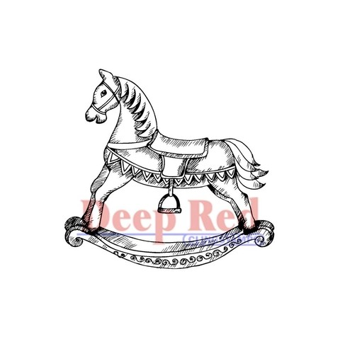 Sello caballito Rocking Horse Deep Red