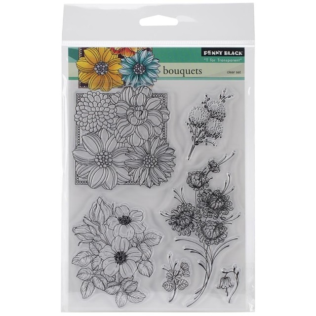 Sellos Bouquets Clear Stamp Penny Black