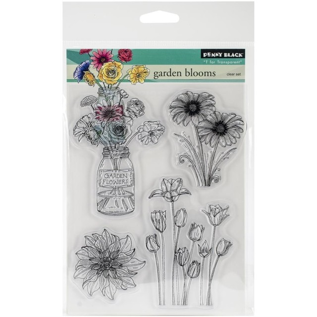 Sellos Garden Blooms Clear Stamp Penny Black - comprar online