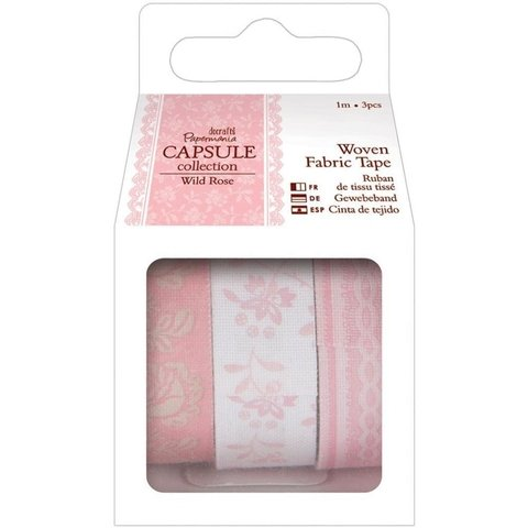 Set de 3 Cintas Decorativas de tela Washi Tape Docrafts - comprar online