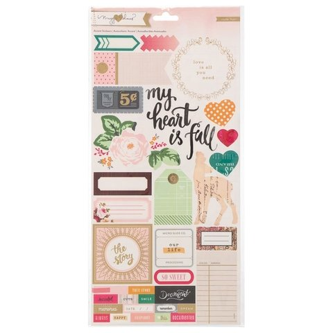 Plancha de stickers Accent & Phrase Maggie Holmes Crate Paper - comprar online