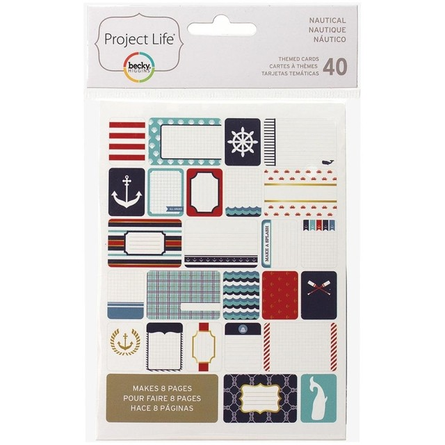 KIT DE 40 TARJETAS PARA PROJECT LIFE BECKY HIGGINS NAUTICAL - comprar online