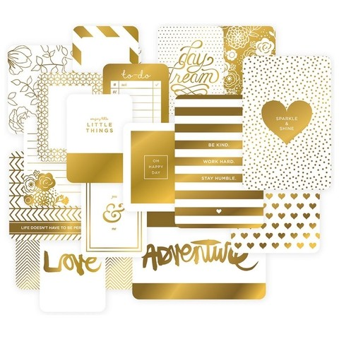 KIT DE 40 TARJETAS PARA PROJECT LIFE BECKY HIGGINS GOLDEN