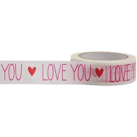 Cinta Decorativa Washi Tape Love You Little B